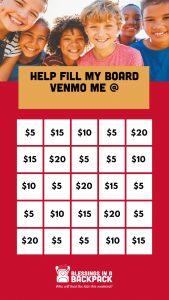 bingo board for fundraising