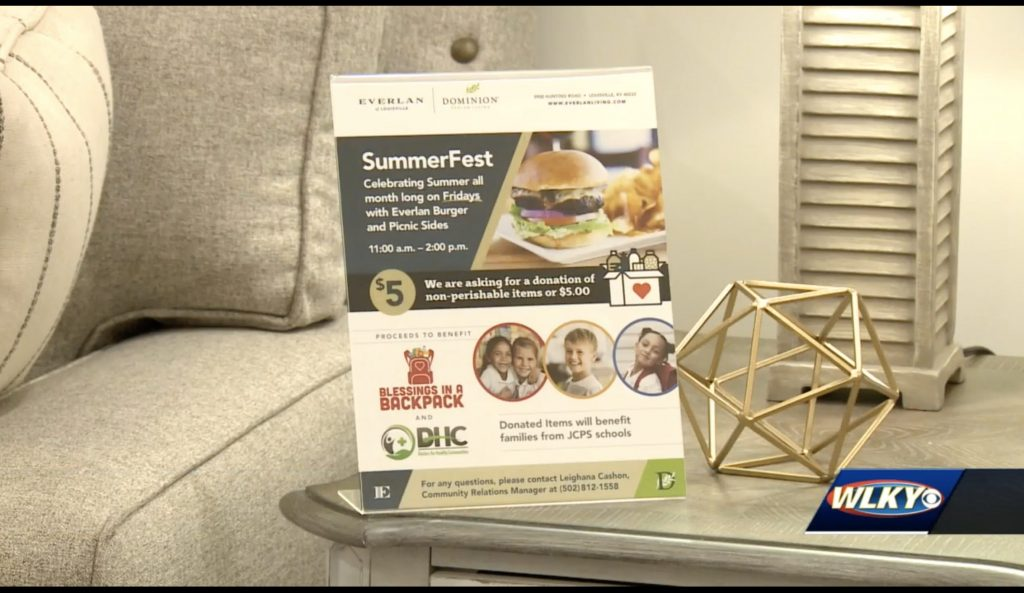 Louisville senior living facility hosting to-go picnics benefitting Blessings in a Backpack