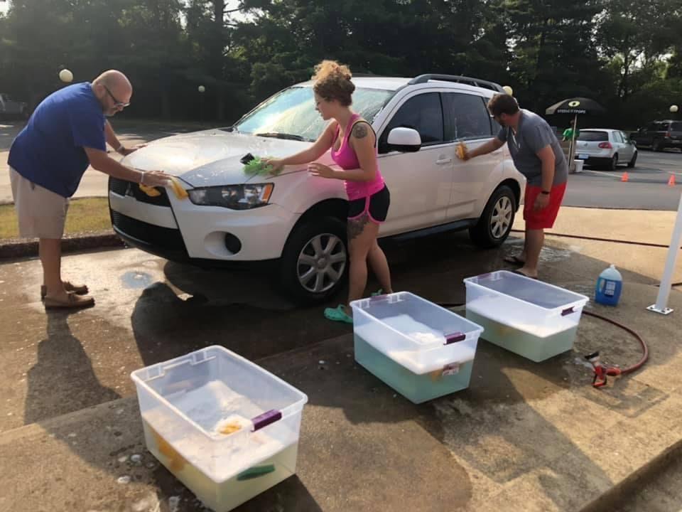 Working at the KarWash + Feeding Kids